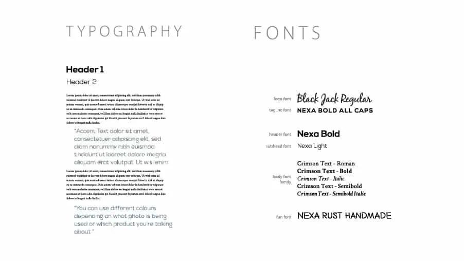 Beans BVI Branding Fonts and Type