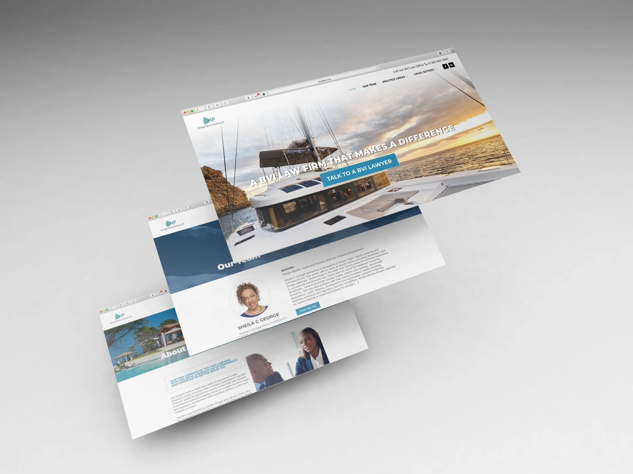 GHP BVI Law Firm Website layouts