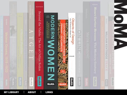 Screen shot of MoMA Book App