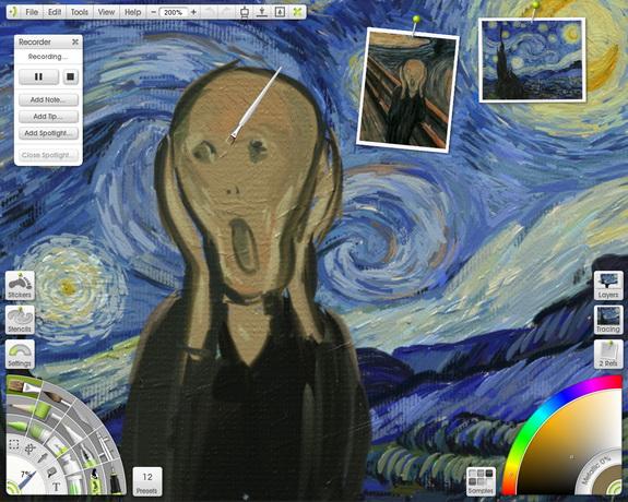 ArtRage painting of Screamy Screamy Night by Barbara Lietzow