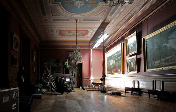 Imaging experts photograph paintings at the Chateau De Fountainbleau in France.