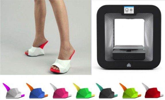Files for United Nudes' Float Shoes can be downloaded from the United Nudes website and printed at home or in-store on the new Cube 3D printer.