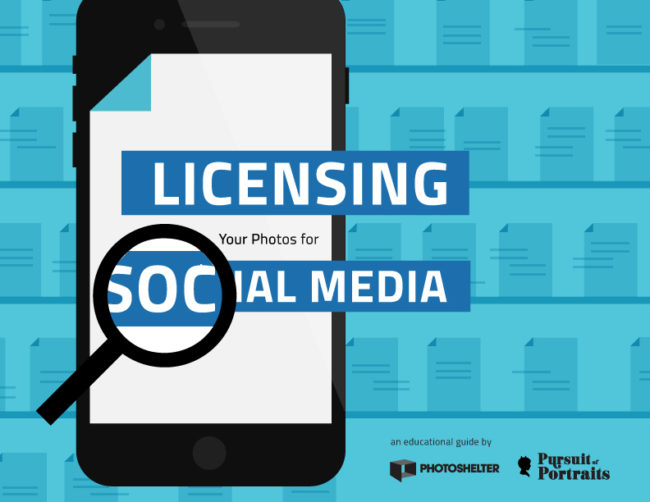 cover of PhotoShelter guide on licensing social media