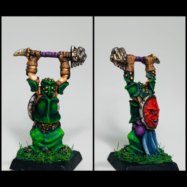Chaos Champion, Warrior, Warhammer, 28mm miniatures, tabletop gaming, miniature painting