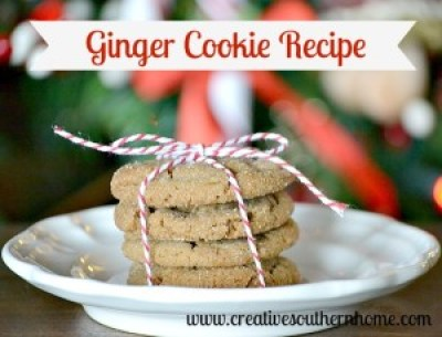 ginger cookie recipe.  Trust me, you will want to try these!  #cookies #baking