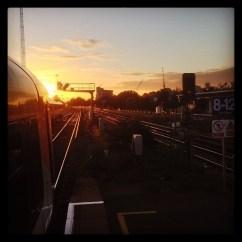 Sunset at Clapham Junction