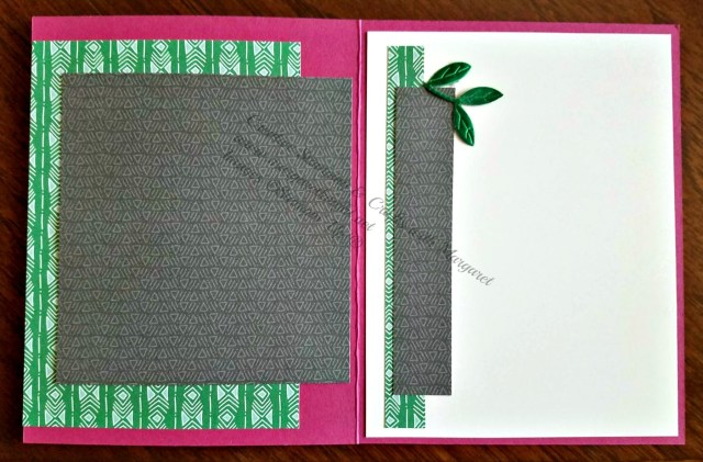 Interior of card using Stampin' Up! Animal Outing