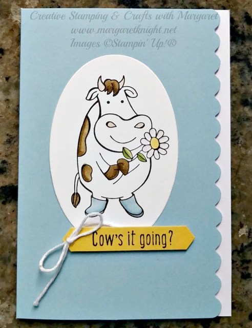 Stampin' Up! Over the Moon  stamp set and Scalloped Note Card
