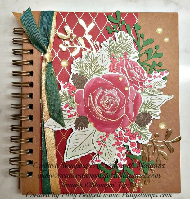 Altered Pressed Petals Journal