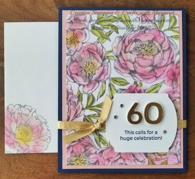 Peony Garden Birthday Card