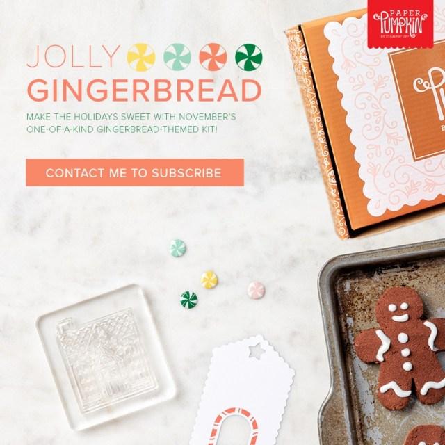 Jolly Gingerbread Paper Pumpkin