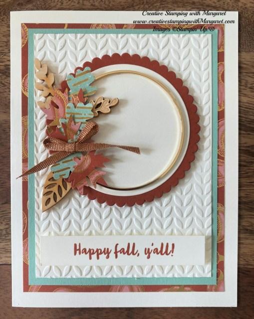 Happy Fall Y'all Wreath Card
