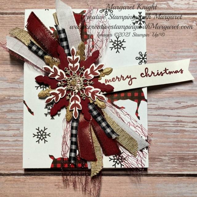 Snowflake Ribbon Tag