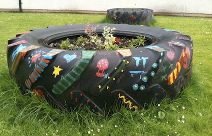 Tyres In School Grounds Creative Star Learning I M A Teacher Get Me Outside Here