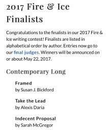 Fire and Ice contest contemporary