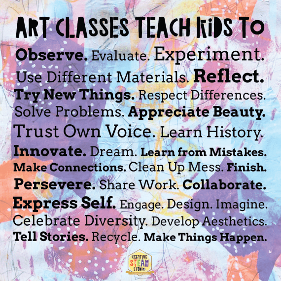 What are the benefits of art classes for kids?
