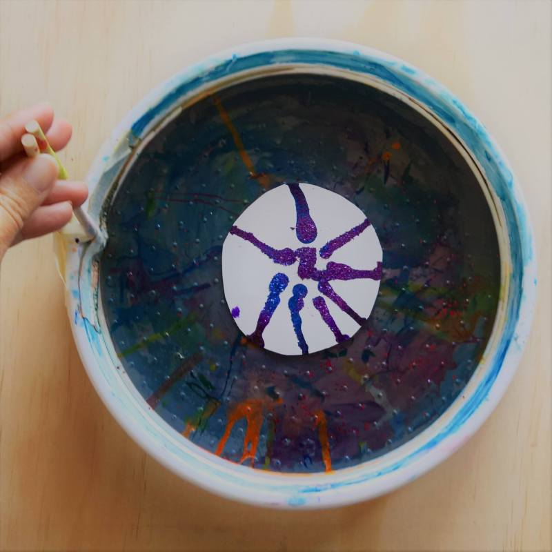 Spin Art Painting for Kids