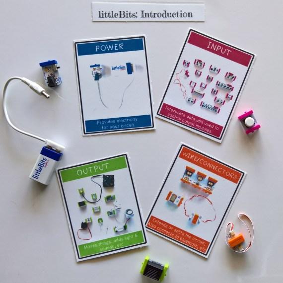 littleBits Introduction - Printable Cards Set