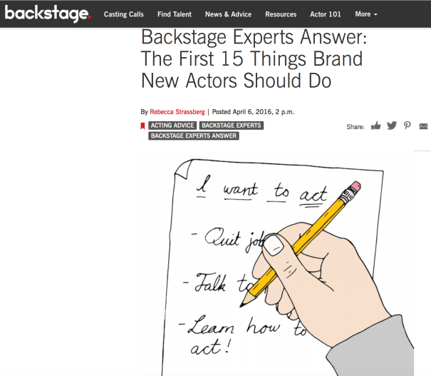 Backstage 15 Things New Actors should do