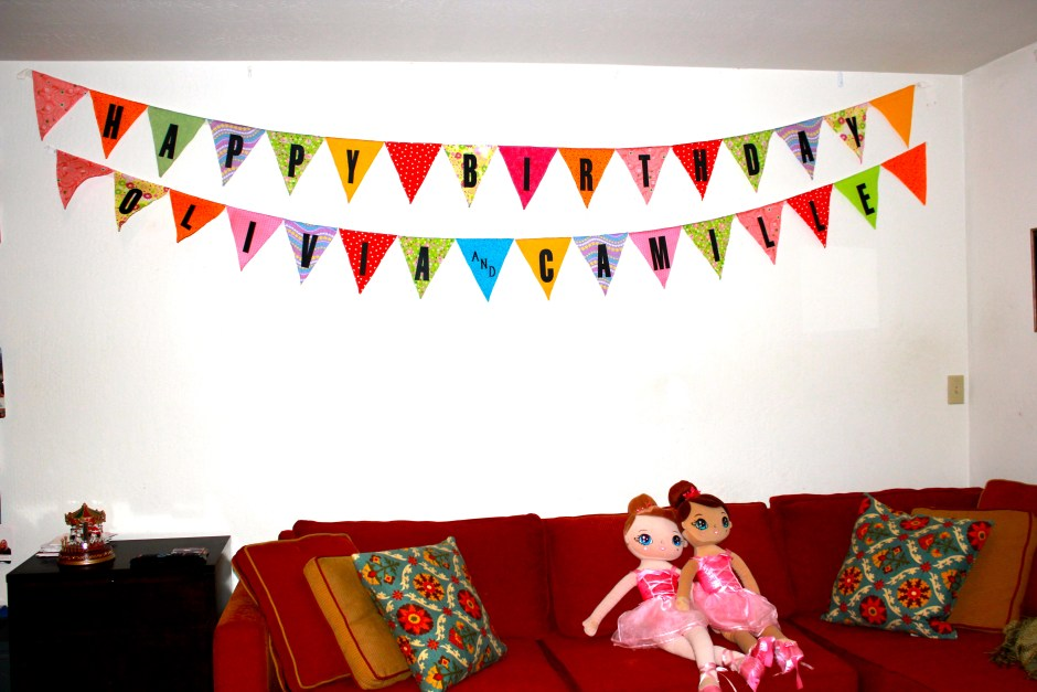 Reusable fabric Happy Birthday Banner