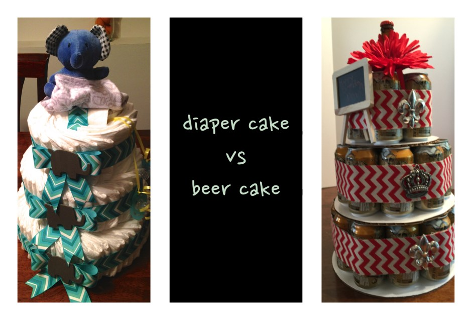 diaper cake vs beer cake