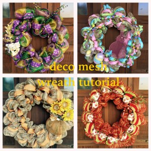 Decomesh wreath made for four different seasons