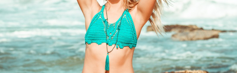 How to quickly make a tassel for your Crochet Bikini