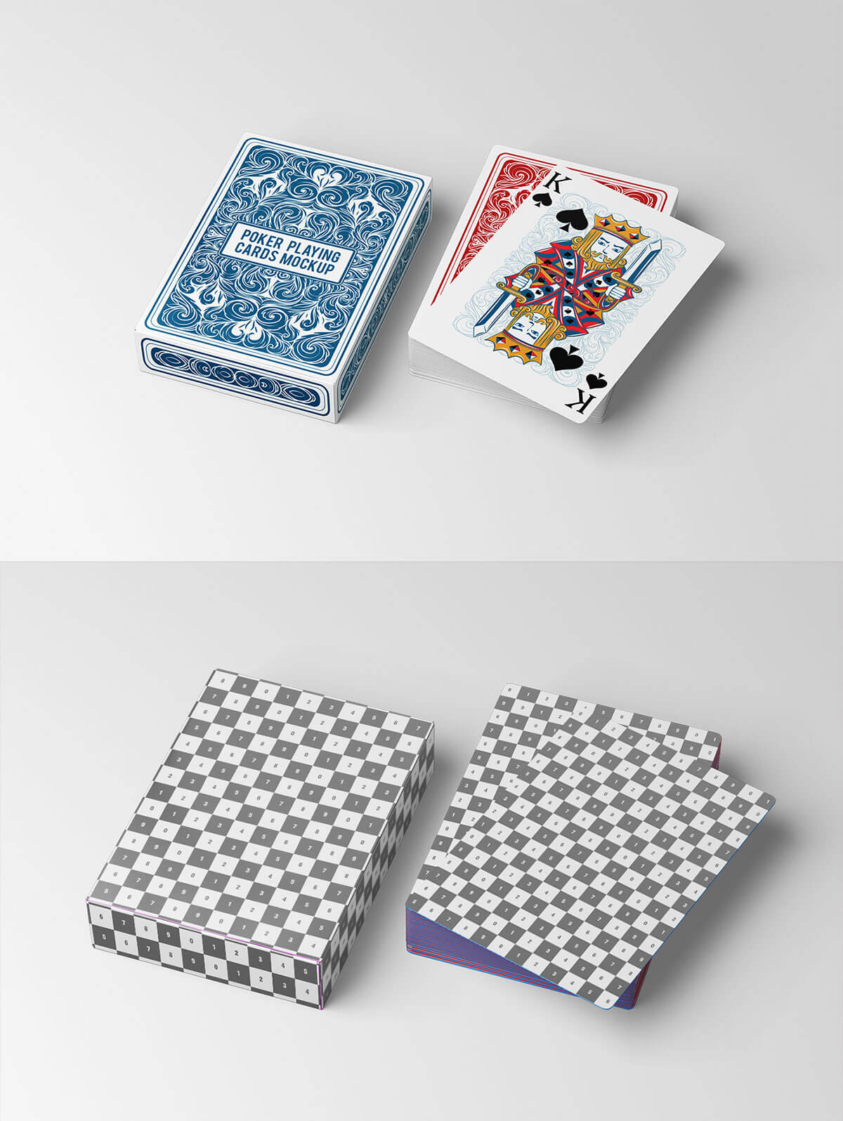 Show your tarot cards with style! Free Poker Playing Cards Mockup Creativetacos
