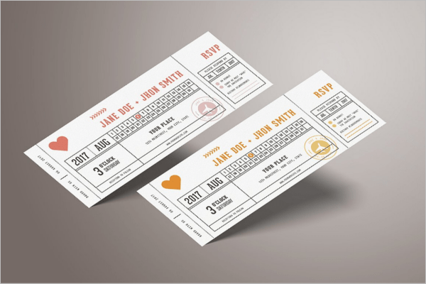 Cheap Ticket Invitations
