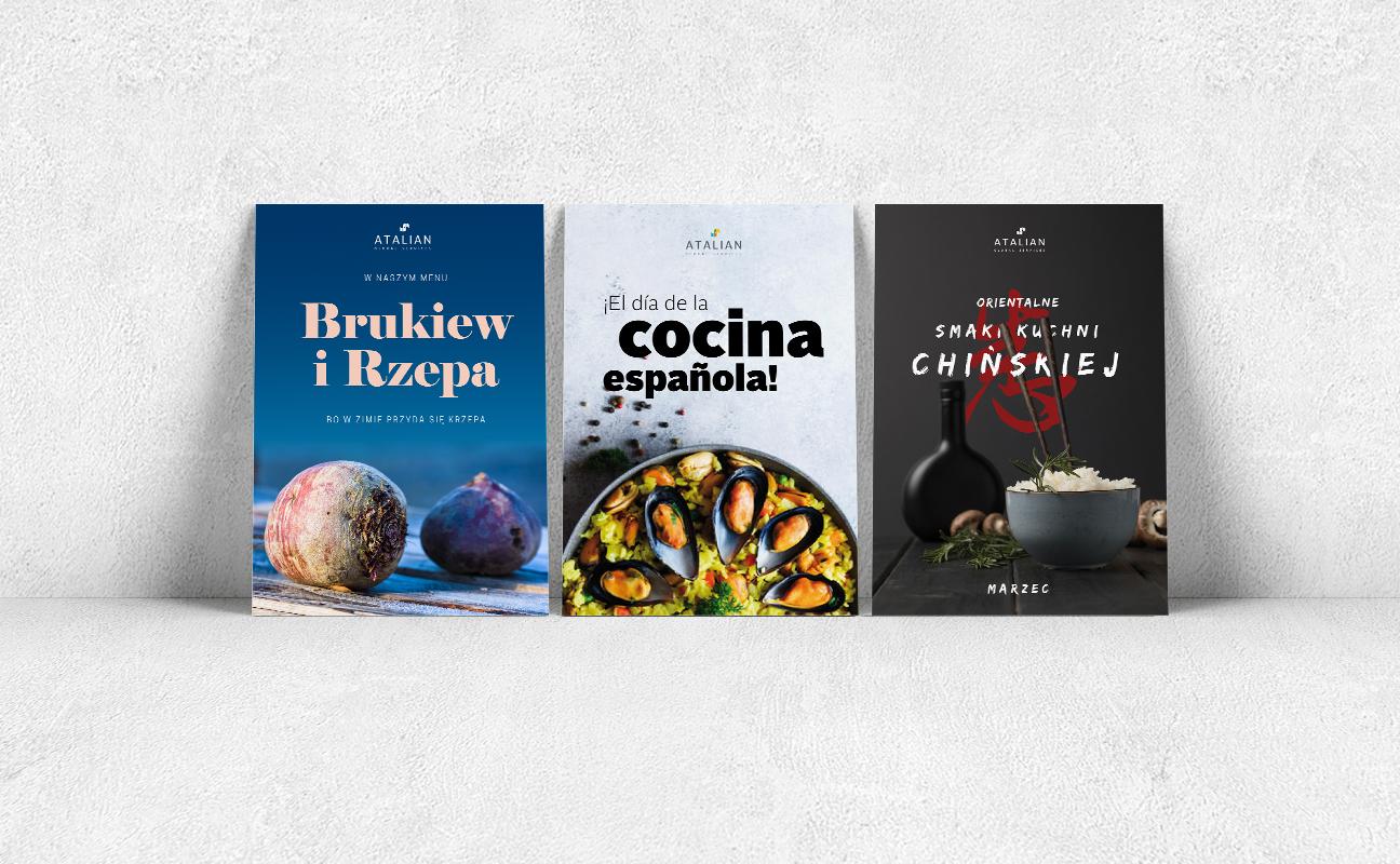 Plakaty kulinarne dla Atalian Global Services