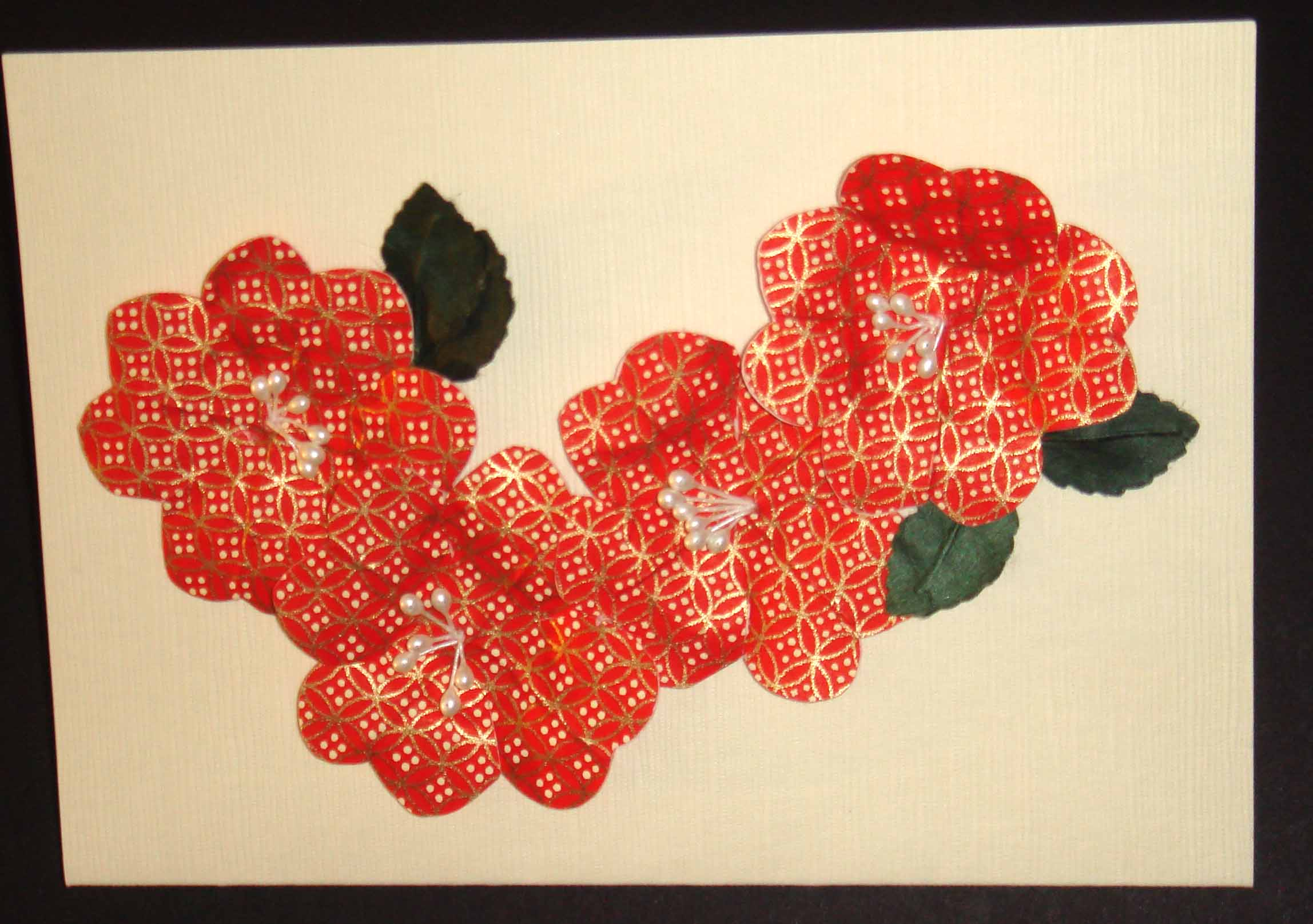Card made from Hanko floral kit