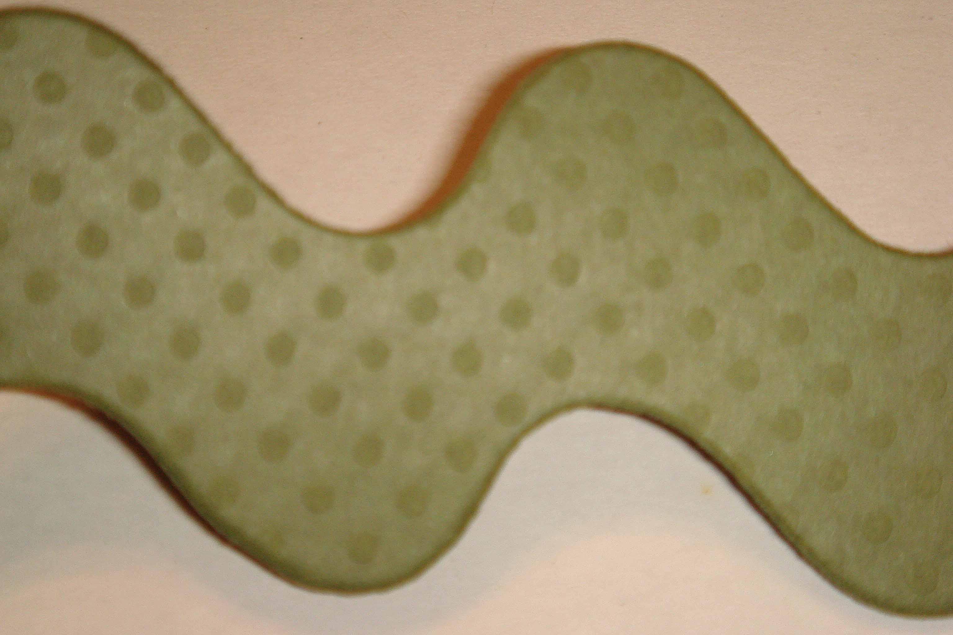 borders bazzill green closeup