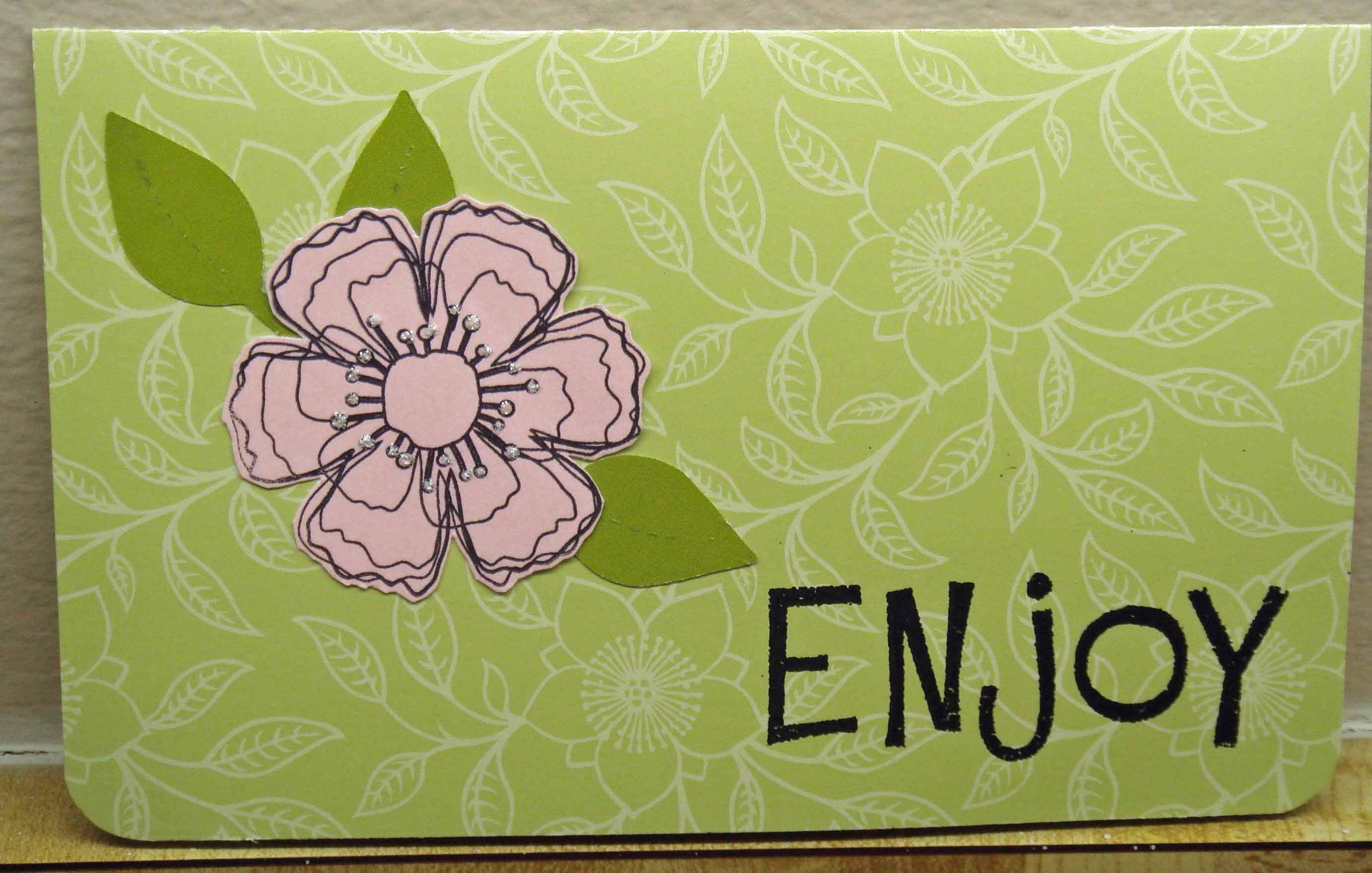 pink flower green background