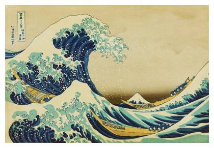 The Great Wave off Kanagawa by Katsushika Hokusai in 1823–29