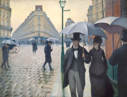 Paris Street, Rainy Day by Gustave Caillebotte in 1877
