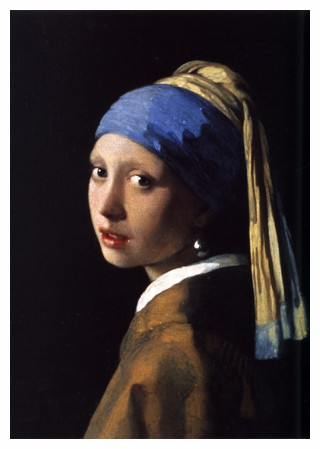 Girl with the Pearl Earring by Johannes Vermeer in 1665