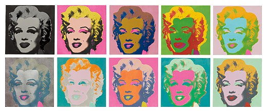 Marilyn by Andy Warhol in 1967