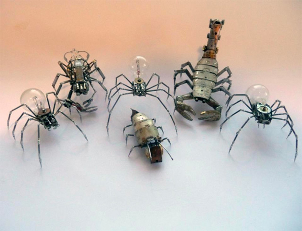 insect made from watch parts