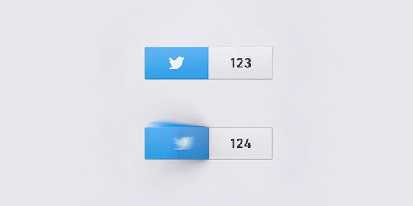 Animated Twitter Buttons