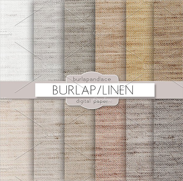 Burlap Natural Color Fabric Pattern