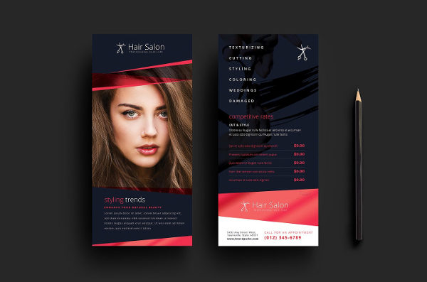 Hair Salon DL Card Template