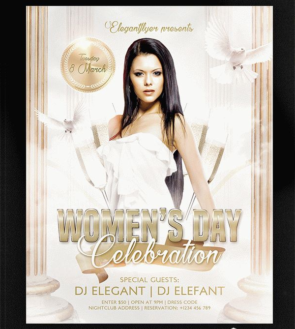 Women's Day Free Flyer PSD Template