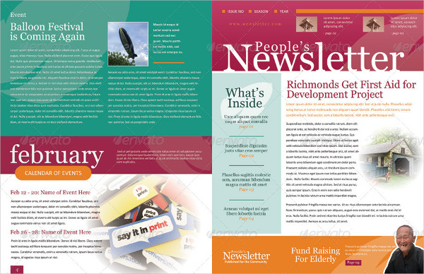 4 Pages Newsletter Templates