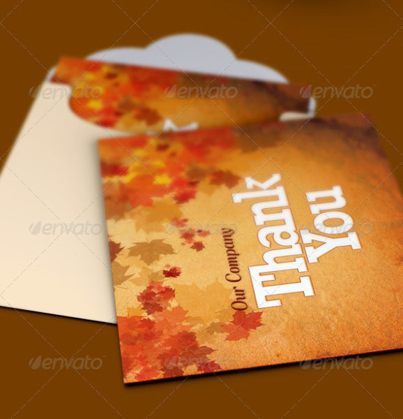 Fall and Harvest Thank You Card