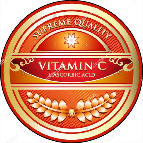 Vitamin Supplement Label
