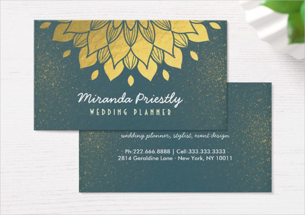 Wedding Planner Makeup Artist Business Card
