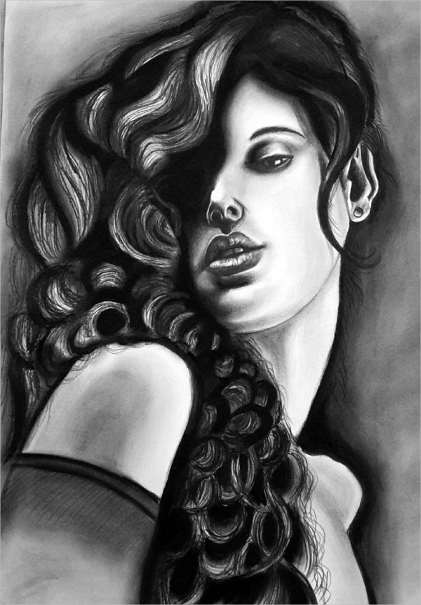 Charcoal Pencil Drawing