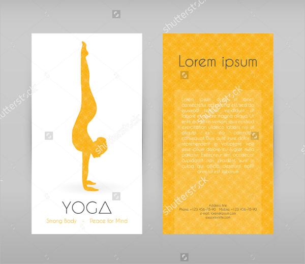Woman Doing Yoga Asanas Flyers