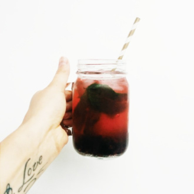 black berry mint flavoured water recipe