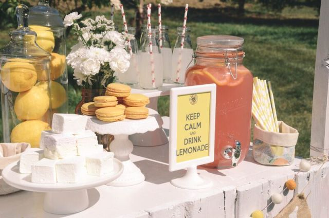 keep calm and drink lemonade styled photoshoot and party